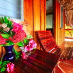 Enjoy the views from your private covered veranda
