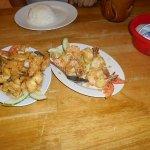 Grilled Garlic Prawns & Calamari with Egg