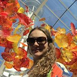 with the amazing glass flowers and the space needle