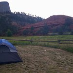 The BEST tent spot.