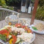 Just a simple tasty fresh Crab Salad and warm bread, yummy