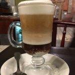 white chocolate/dark chocolate mocha at their cafe