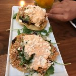 Chipotle Chicken Tostada - Joya Restaurant in Palo Alto