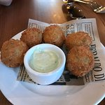Chickpea and corn croquetas - Joya Restaurant in Palo Alto