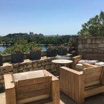 Private patio overlooking Avignon