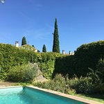 Delightful pool to cool off after hot day, very private, across the lane from the maison