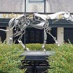 The mechanical horse walking into Kentucky Horse Park.