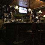 The bar counter.