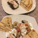 Chicken kebab with dolma, and Kofte plate with dolma