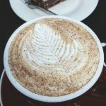 Chai Latte + Peanut butter fudge at Blue Vue Cafe