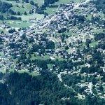 Village of Les Diablertets from Glacier 3000