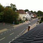 View towards edge of Zülpich and town centre car park