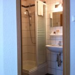 Compact but efficient bathroom with great shower