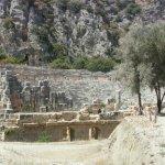 Photo de Rock tombs in Myra