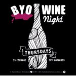 BYO wine on Thursday nights
