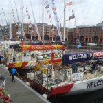 Clippers at L'pool Dock, for Yacht Race