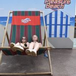 giant deckchair at the pleasure beach