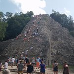 Approach to Coba temple