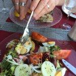 Fabulously fresh salad at Vall Parrander at the port