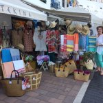 Shopping a the local port, about 10 minutes walk from the hotel