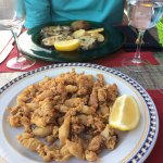 Best squid in the world! Crisp and fresh! Vell Parraner near the hotel.