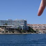 We took a boat ride around the Mahon harbour and passed our hotel on the way back.