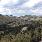 Cripple Creek from the line, note the road outlines in the empty fields