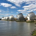 Thames Barrier On A Sunny Day