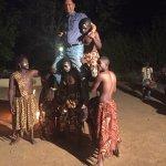 Guest enjoying the siddhi african dance around the bonfire.