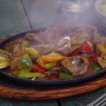 Sizzling Beef with Mongolian sauce
