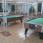 Pool tables outside.