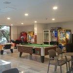 Entertainment area inside.
