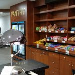 Pantry next to front desk (eats)