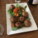 Excellent lamb meatballs with sweat and sour glazed.