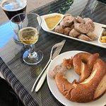 Sausage, pretzel, & beer stop