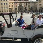 Antigue car trip to St Vitus Cathedral