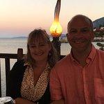 dinner at the Kaiser Bridge restaurant , near to the charming town of Benitses