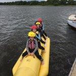 Banana boat on the lake
