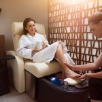 AquaVie Spa offering relaxing pedicures for guests.