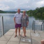 At the lake,