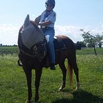 Mary during our horseback tour! She was so full of amazing facts and details!
