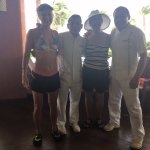 Us with Jose and Jesus at the Coral Grill, Barcelo Maya Palace