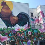 One of the many beautiful murals in the Mission.