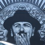 A tribute to Carlos Santana, who lived in the area.