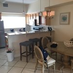 1br oceanview suite, bldg. 3. Pictured before checkout so room is a little messy. Note the 1 sho