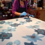 Bellísimos pañuelos pintados a mano