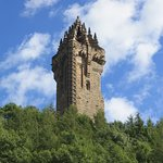 View of Wallace Monument from the visitor centre.