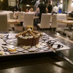 The complimentary gateau for the birthday celebrant