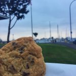 The complimentary cookies while strolling around the marina.