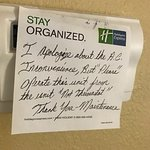 note during 2nd stay re: AC